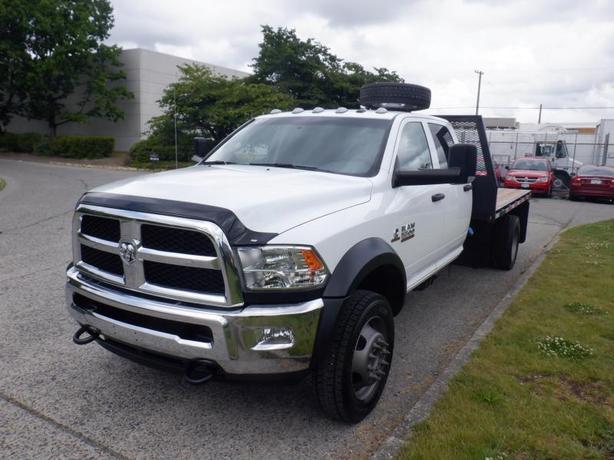 2018 RAM 5500 Flat Deck 11 foot Crew Cab 4WD Dually Diesel