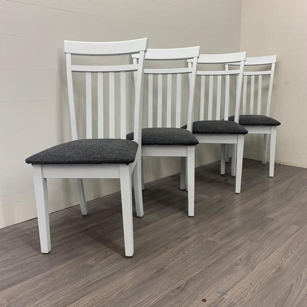 4 Solid Wood Dining Chairs - LIKE NEW!