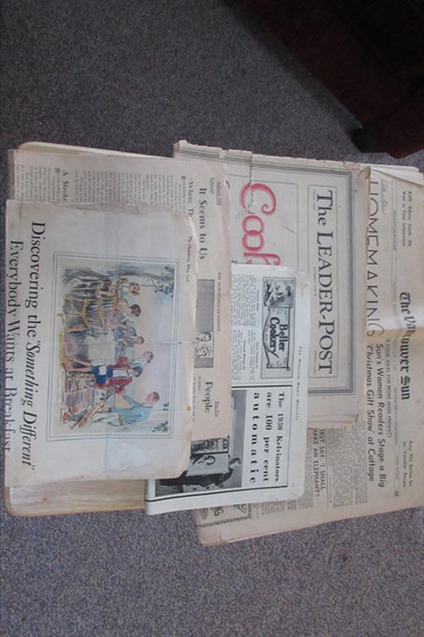 Vintage Newspapers from 1928 - 1955