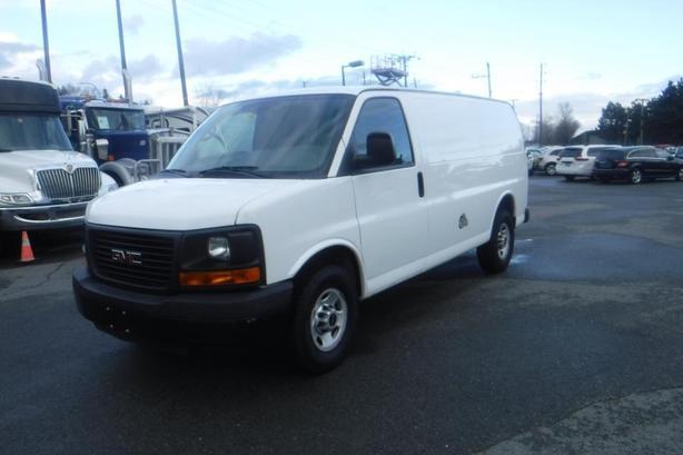2013 GMC Savana G3500 Cargo Van with Bulkhead Divider and Rear Shelving
