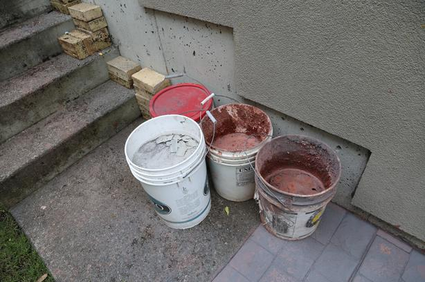 FREE:Buckets with pieces of concreet