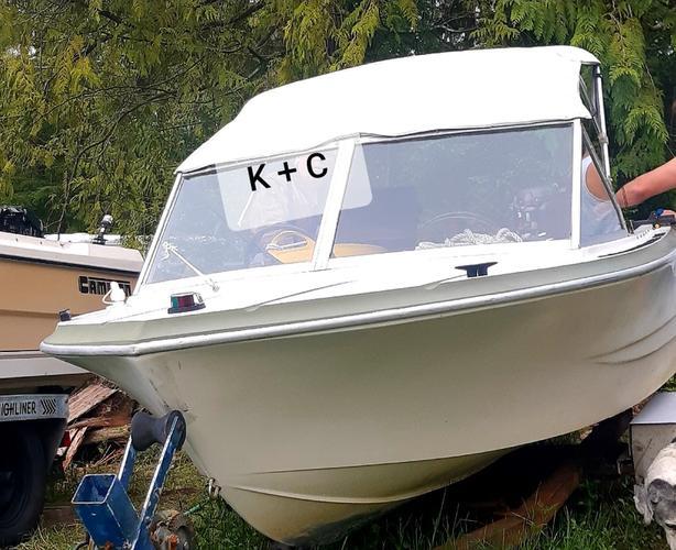 engine / boat / trailer