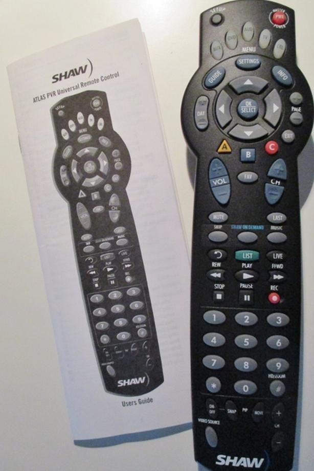 Atlas PVR Universal remote control.