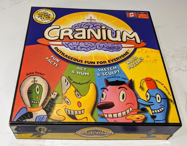 Original CRANIUM Board Game Family Fun for your Brain with Box Good Condition