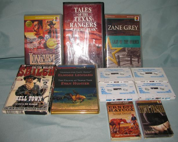 Western Audiobook Cassettes 5 Sets 3 Singles Zane Grey & More Mixed Lot of 8