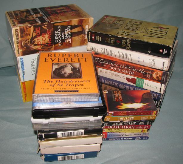 Audiobook Cassettes Mystery Romance Suspense Sci-Fiction 18 Sets Mixed Lot of 25