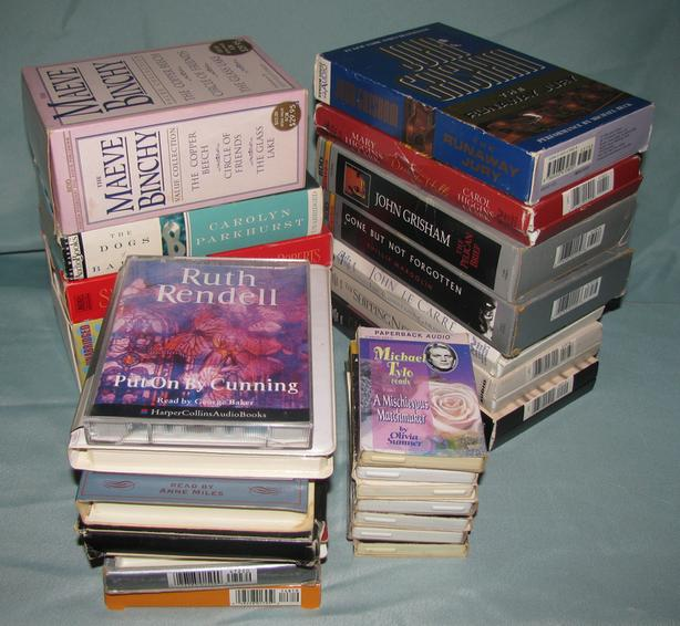 Audiobook Cassettes Mystery Romance Suspense 18 Sets Mixed Lot of 25
