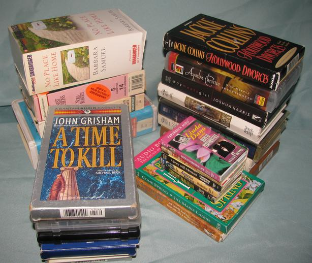 Audiobook Cassettes Mystery Romance Suspense Fiction 18 Sets Mixed Lot of 25