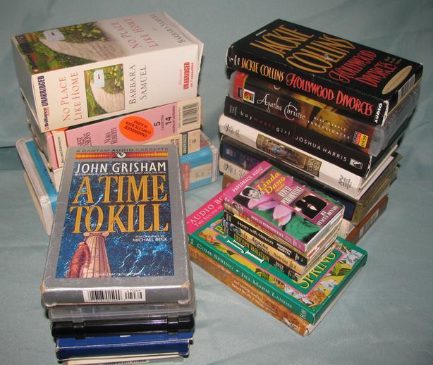 Audiobook Cassettes Mystery Romance Suspense Fiction 18 Sets Mixed Lot of 25