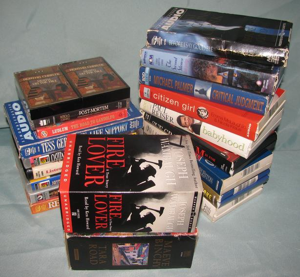 Audiobook Cassettes Mystery Romance Suspense Comedy Mixed Lot 20 Sets