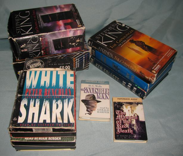 Audiobook Cassettes Horror Thriller 10 Sets 2 Stephen King 12 Lot Mixed