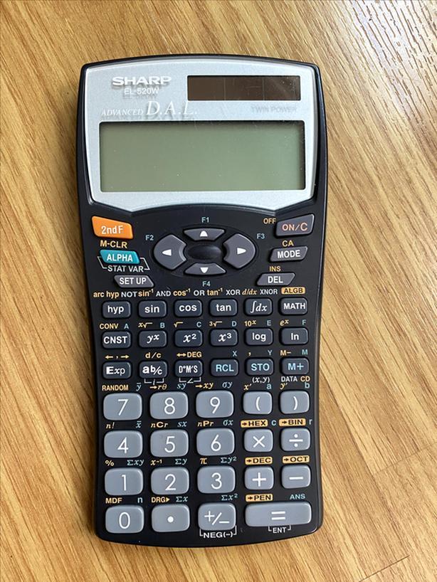 SHARP Model EL-520W Calculator