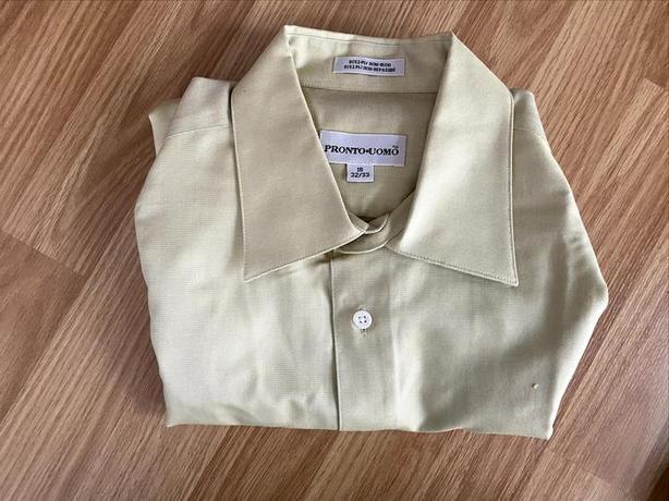 Mustard Semi-formal Non-Iron Shirt