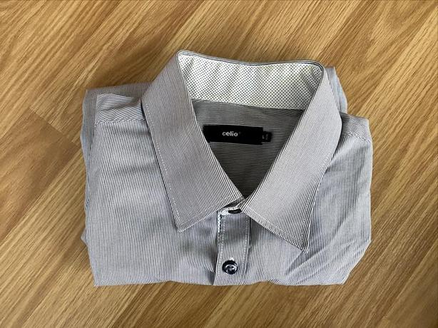 Grey Striped Work/Casual Shirt