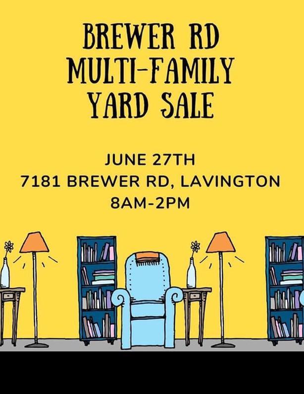 Multi Family Yard Sale - 7181 Brewer Rd Coldstream BC Saturday June 27th