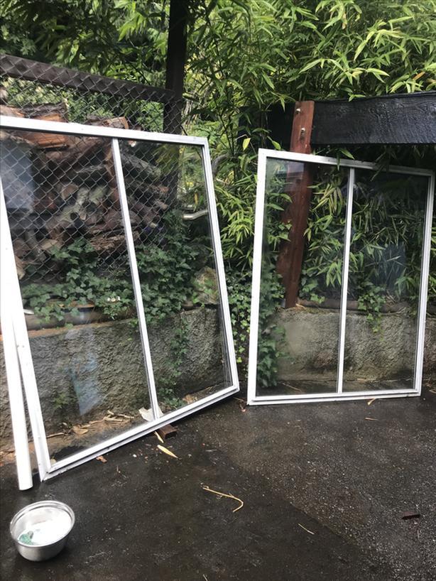Two 5'x6' steel windows