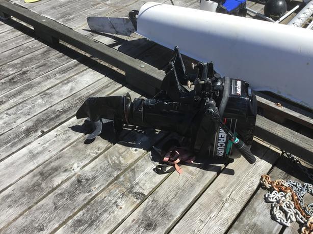 Merc 9.6 hp outboard 2 stroke