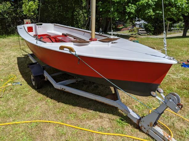 Enterprise 13ft. Sailing dinghy w/ trailer