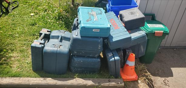 Empty toolboxes , Makita, Bosch and others