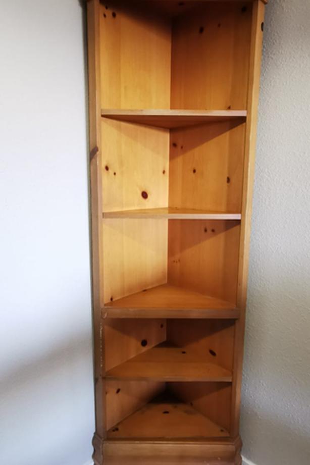 Corner Shelf Unit (Wood)
