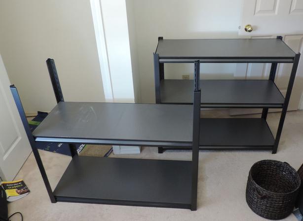 Heavy duty steel and MDF Shelf unit