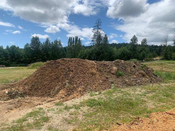 Quality composted horse manure