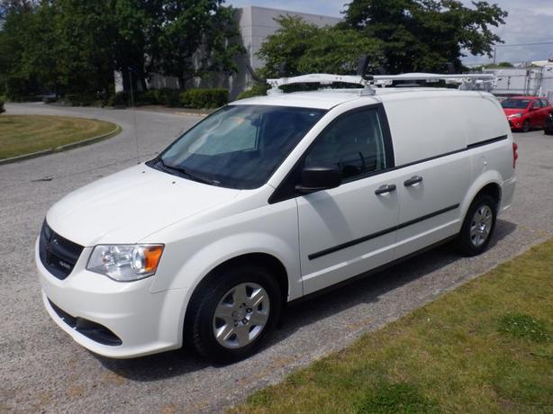 2013 Dodge RAM Cargo Van With Shelving and Ladder Rack