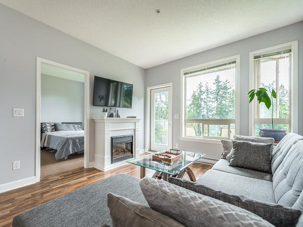 2br, 2 bath condo in LANGFORD; available Sept 1; 825 Goldstream Ave.