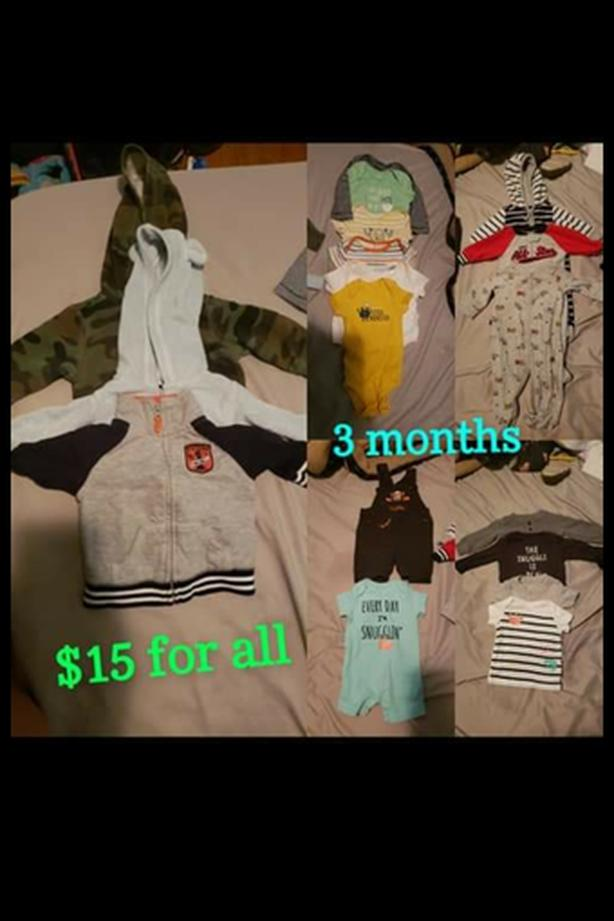 Baby Boy clothes (size 0-3 & 3)