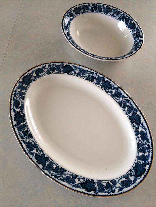 Double Phoenix N.K.T. Ironstone serving dishes