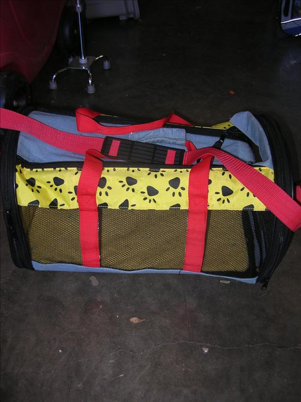 Soft Sided Pet Carrier with 3 Openings and Shoulder Strap.  (212 1813)  **