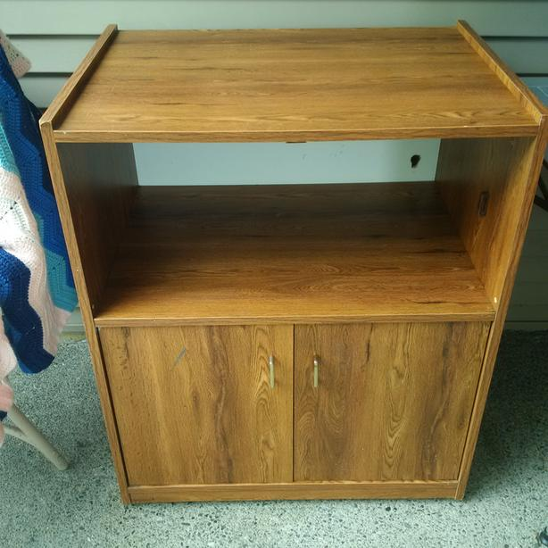 FREE: microwave stand/cabinet