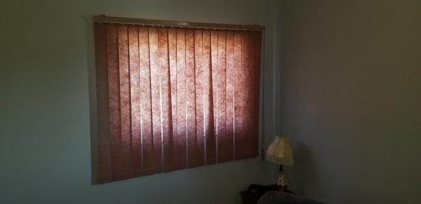 FREE: pink vertical blinds