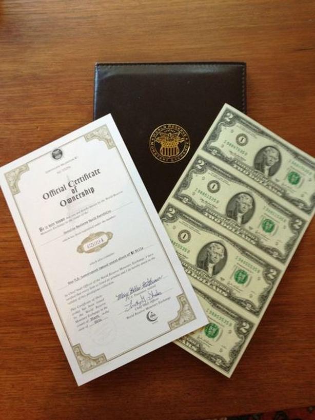 Sets of US $2.00 Bills In Booklets