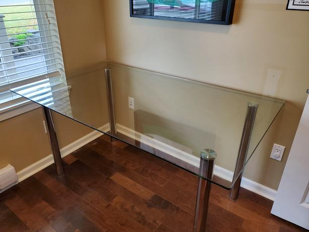 Modern glass table - priced to sell!