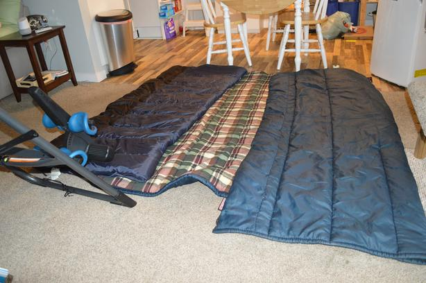 2 Coleman + 1 Woods 4Lb sleeping bags