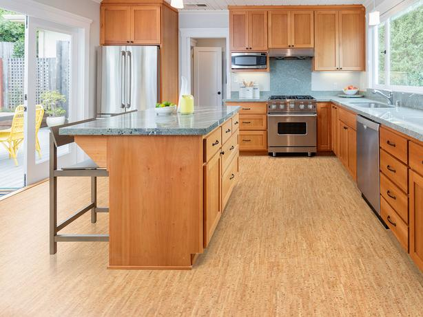 Use cork floors to warm up and cool down- Silver Birch $4.49 /sf