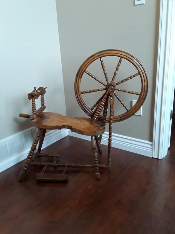 cool old Quebec spinning wheel