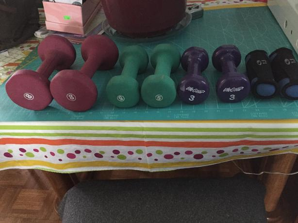 set of womens' weights