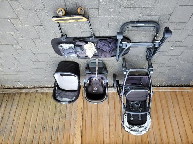 $690 - Uppa baby Vista Brand New Frame Stroller and Mesa Car Seat Lot