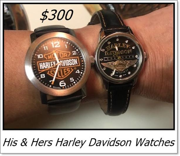 Harley Davidson Watches, His & Hers, $300 for pair