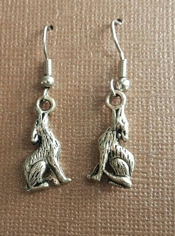 New Small Coyote Earrings