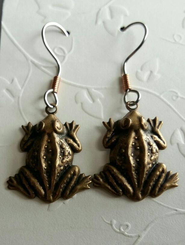 New Frog Earrings