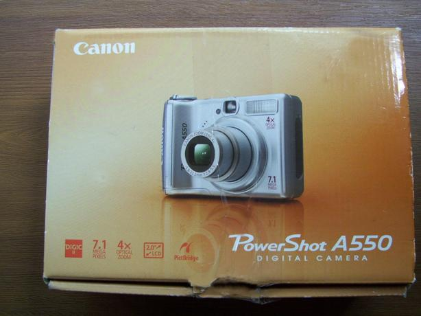 Canon PowerShot A550, Complete Package – As Is