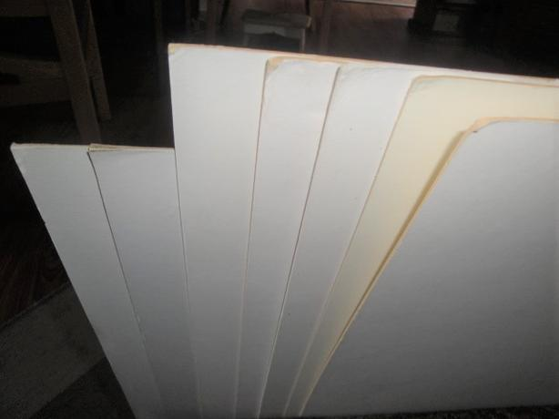 Art Canvases / Illustration Board, 9 pieces (not pristine, but useful)
