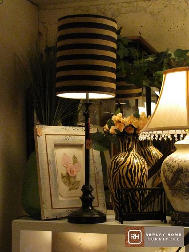 Leather Stripe Buffet Lamp