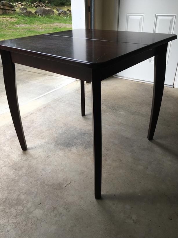 Square Dining Room Table and 3 Upholstered Chairs