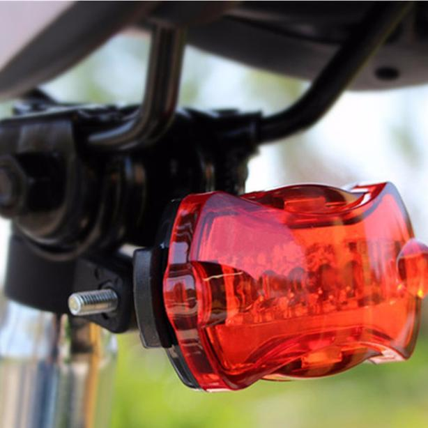 Bicycle Bike Rear Safety Warning LED Tail Light - Red Light