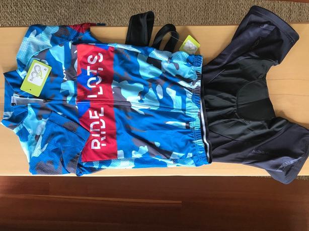 Brand new Cycling kit: bib shorts + jersey