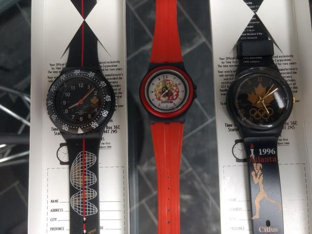 2 - 1996 Olympic Watches & 1 - Expo 86 Watch